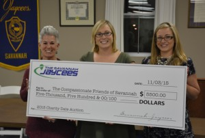 Jaycees Check Presentation to Compassionate Friends of Savannah