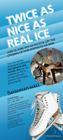 Savannah Mall Synthetic Ice Rink Flier