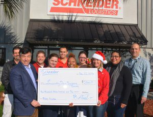 Lowcountry Down Syndrome Society Presented Donation By Schneider