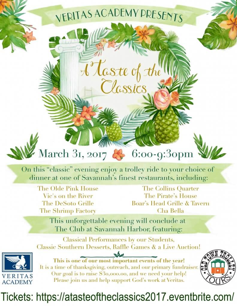 "Veritas Academy Announces ""A Taste of the Classics"" Fundraiser for March 31 With Goal to Raise $30,000"