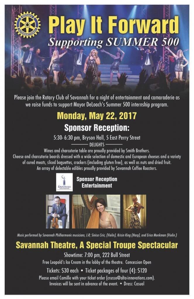 Rotary Club of Savannah Play it Foward event 2017