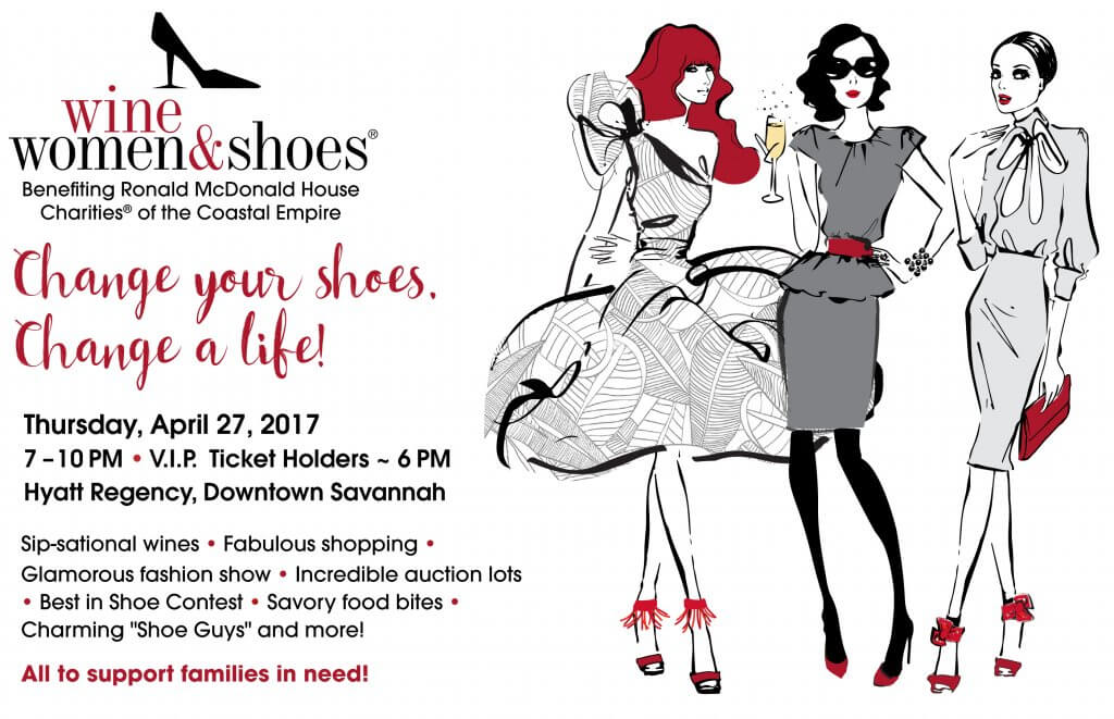 Wine Women and Shoe Ronald McDonald House of the Coastal Empire