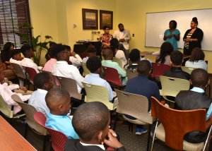 The Rotary Club of Savannah matched deposits into college savings accounts established at Carver State Bank, by local students who are participants in the 100 Black Men of Savannah's mentorship program.