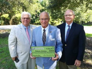 Michael Shortt and Jim Piette Present Check to Michael Hughes of Bethesda Academy