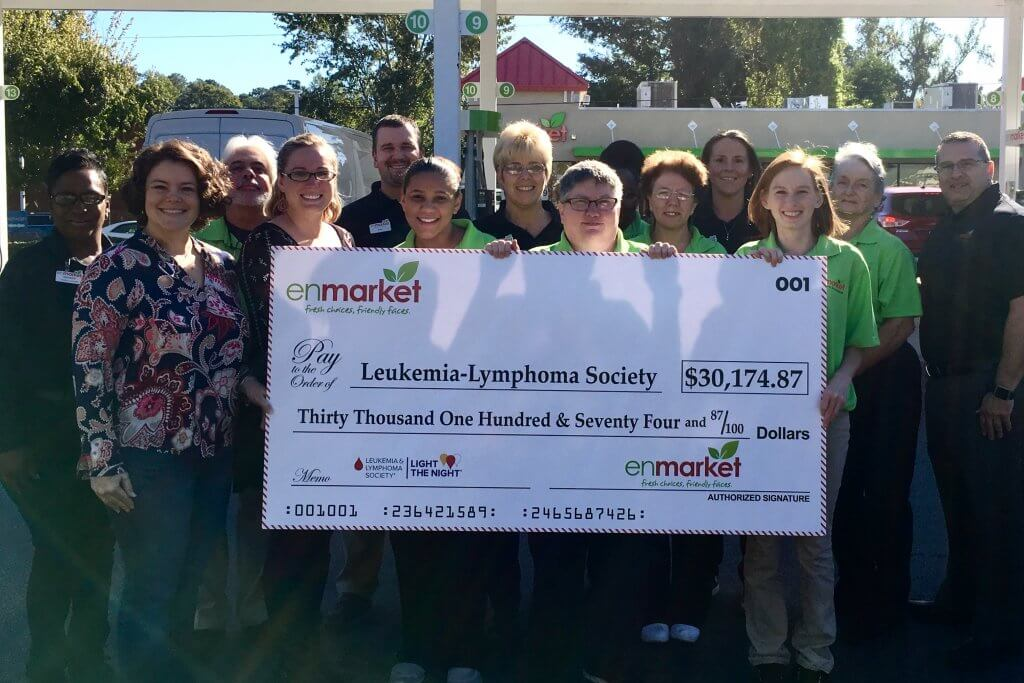 Enmarket Presents Check to Leukemia and Lymphoma Society