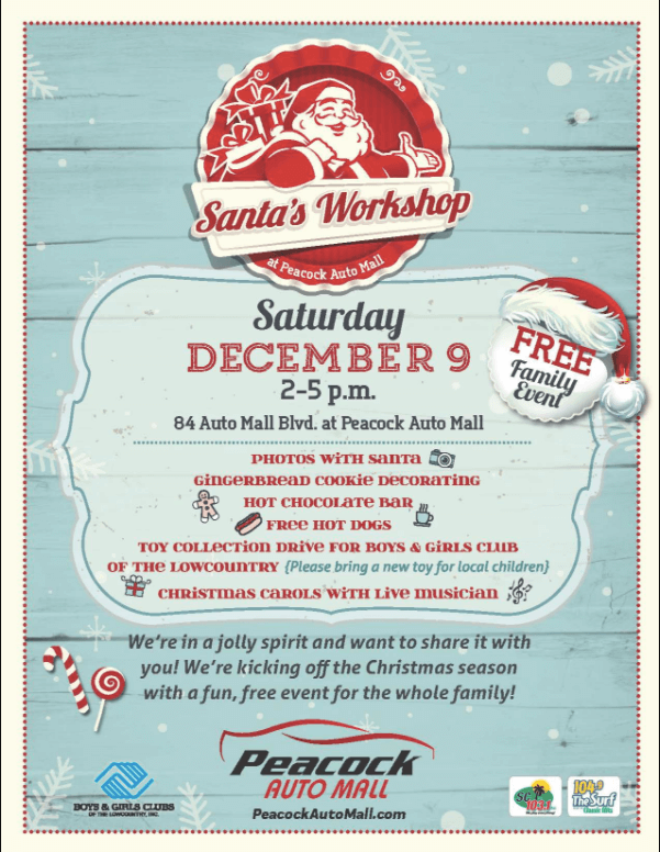 Peacock Automotive Presents Santa's Workshop