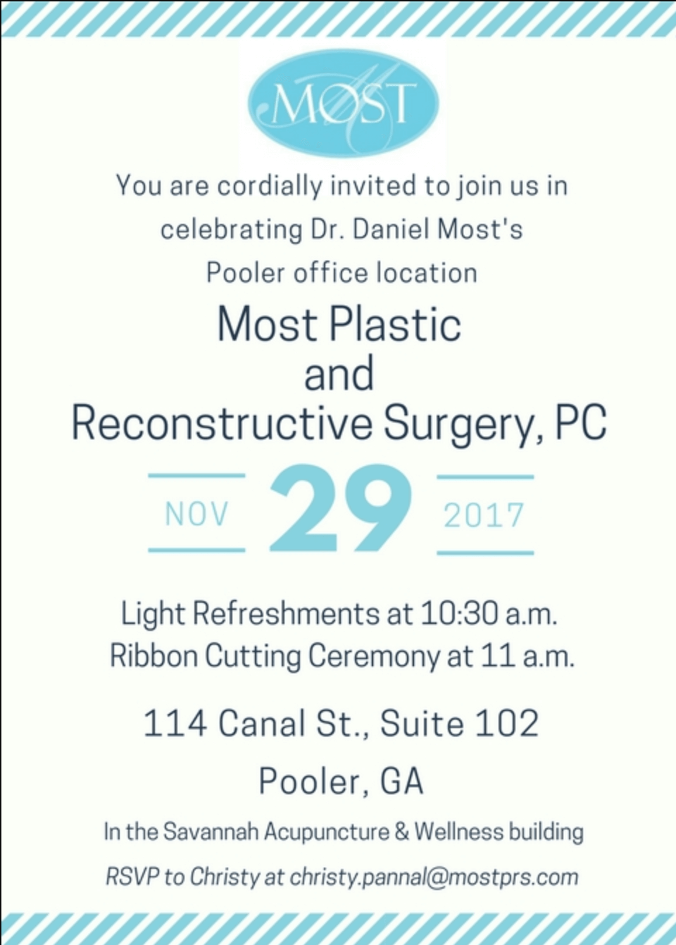 Most Plastic and Reconstructive Surgery, PC, Pooler Grand Opening