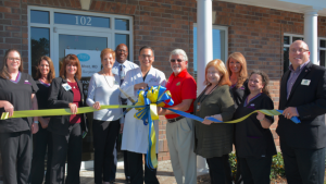 Dr. Daniel Most of Most Plastic & Reconstructive Surgery, PC cuts ribbon on Pooler office.