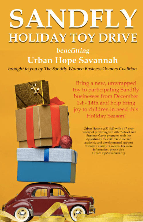 Dr. Angela Canfield & Sandfly Women Business Owners Coalition Announce Toy Drive for Savannah Families