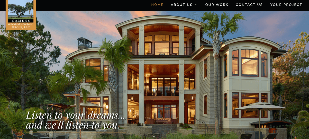 Camens Architectural Group Website Designed by Speros