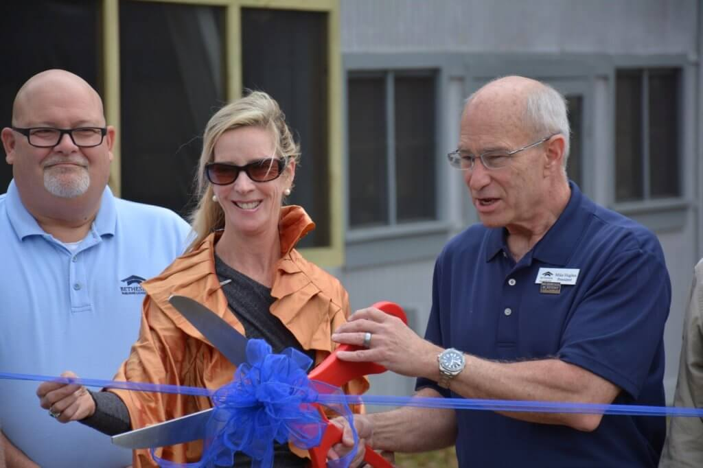 Bethesda Academy and The Barnbuilders Cut the Ribbon on a New Pavilion.
