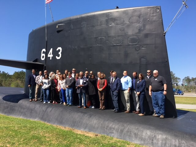 Leadership Southeast Georgia 2018 Session 3 Submarine.