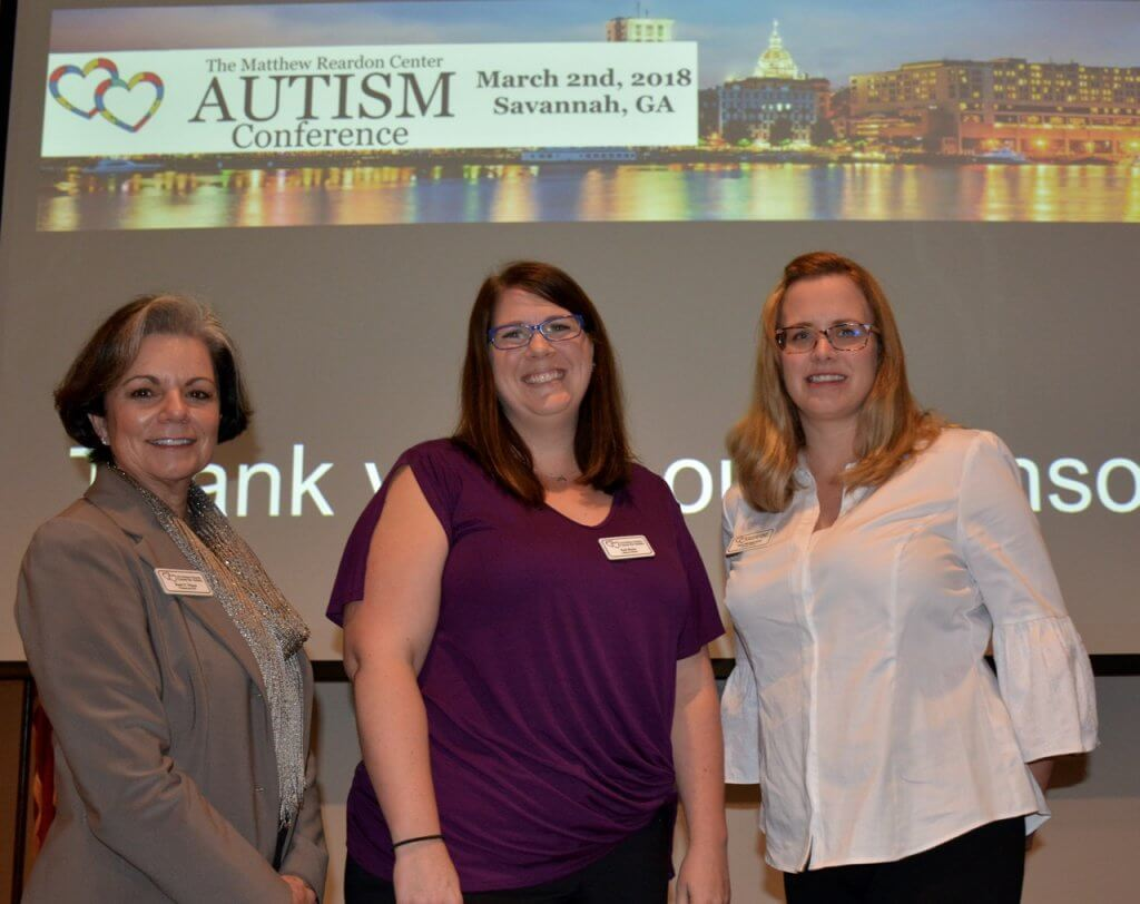 Patti Victor, Erin Roma, & Faye Montgomery of the Matthew Reardon Center for Autism