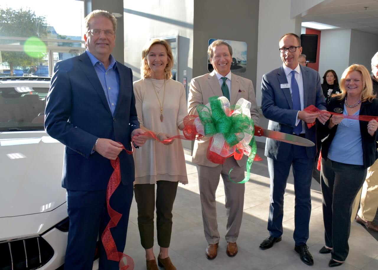 Peacock Automotive Cuts Ribbon on Maserati and Alfa Romeo Grand Opening