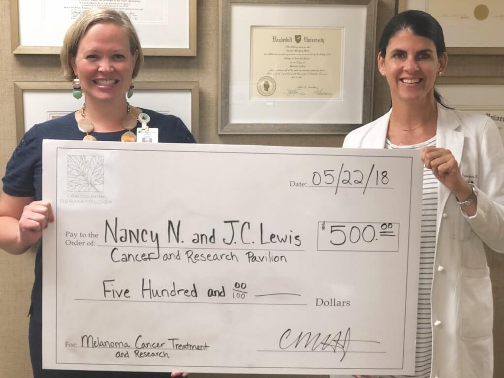 Low Country Dermatology Presents Donation to Cancer Center