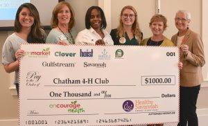 Check Presentation to Chatham County 4-H Club at Encourage Health