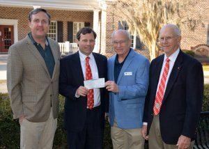 The Society of Colonial Wars of America Present Check to Bethesda Academy