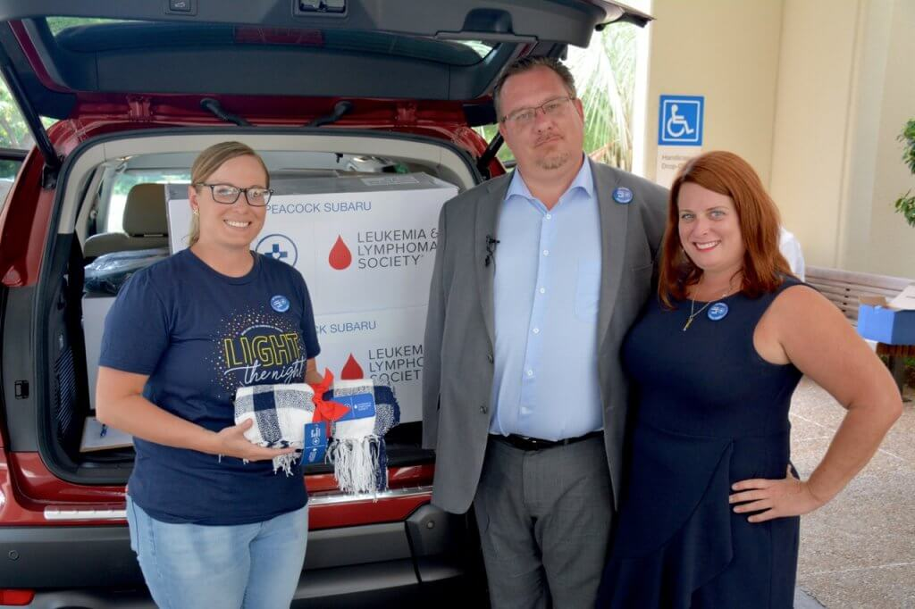 Peacock Subaru Donates Blankets and Craft Kits to Cancer Patients