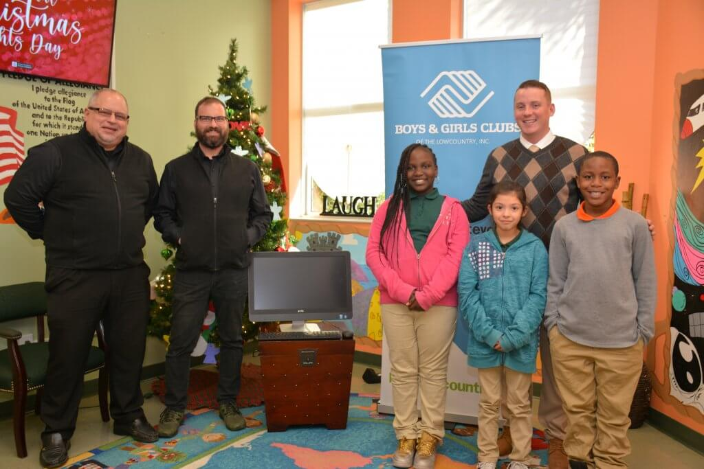 Computer Donation to Boys and Girls Clubs of Jasper County from Peacock Automotive