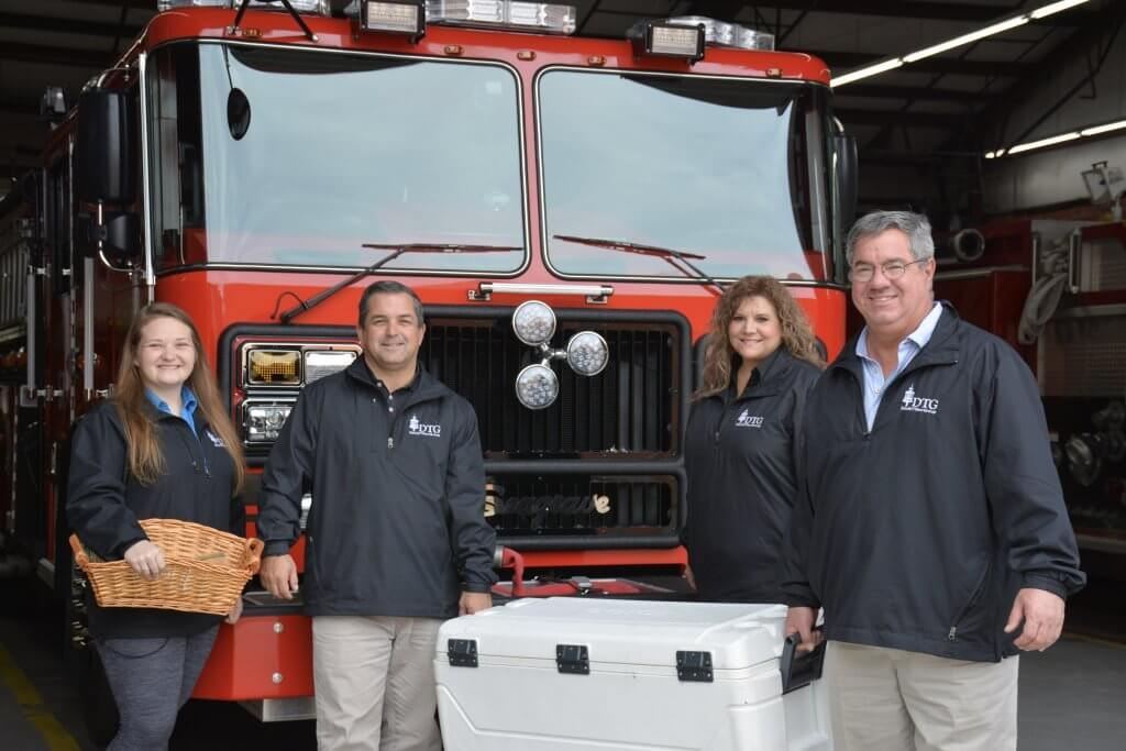 Dewitt Tilton Group Donates Thanksgiving Meals to Thunderbolt First Responders